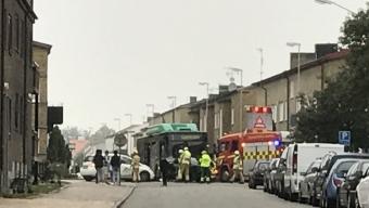 Bussolycka på Hantverkargatan