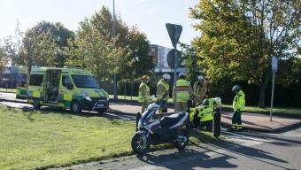 Moped välte vid Mikkis