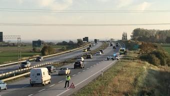 E6: Bil voltade vid Landskrona Södra