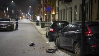 Bil skadades i explosion