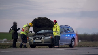 Larm om bilbrand vid Landskrona Norra