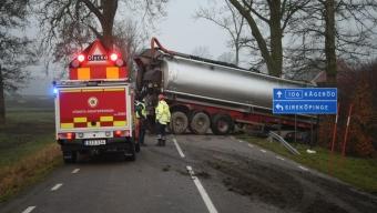 Lastbilsolycka utanför Kågeröd