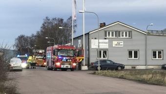 Larm om brand på Bangårdsgatan