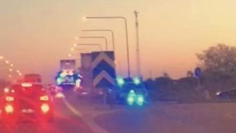 Krock på bron över E6