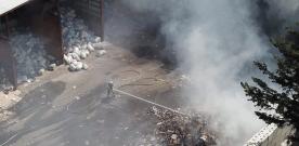 Brand i wellpapp på Stena i Eslöv