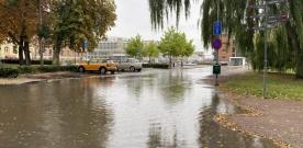 Översvämningar runt om i Landskrona