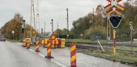 Järnvägsövergången stängd