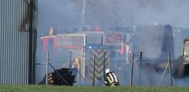 Brand vid Byggmax i Rydebäck