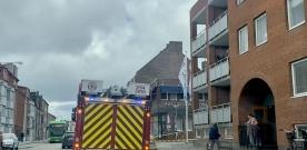Räddningstjänsten spärrade av trottoar