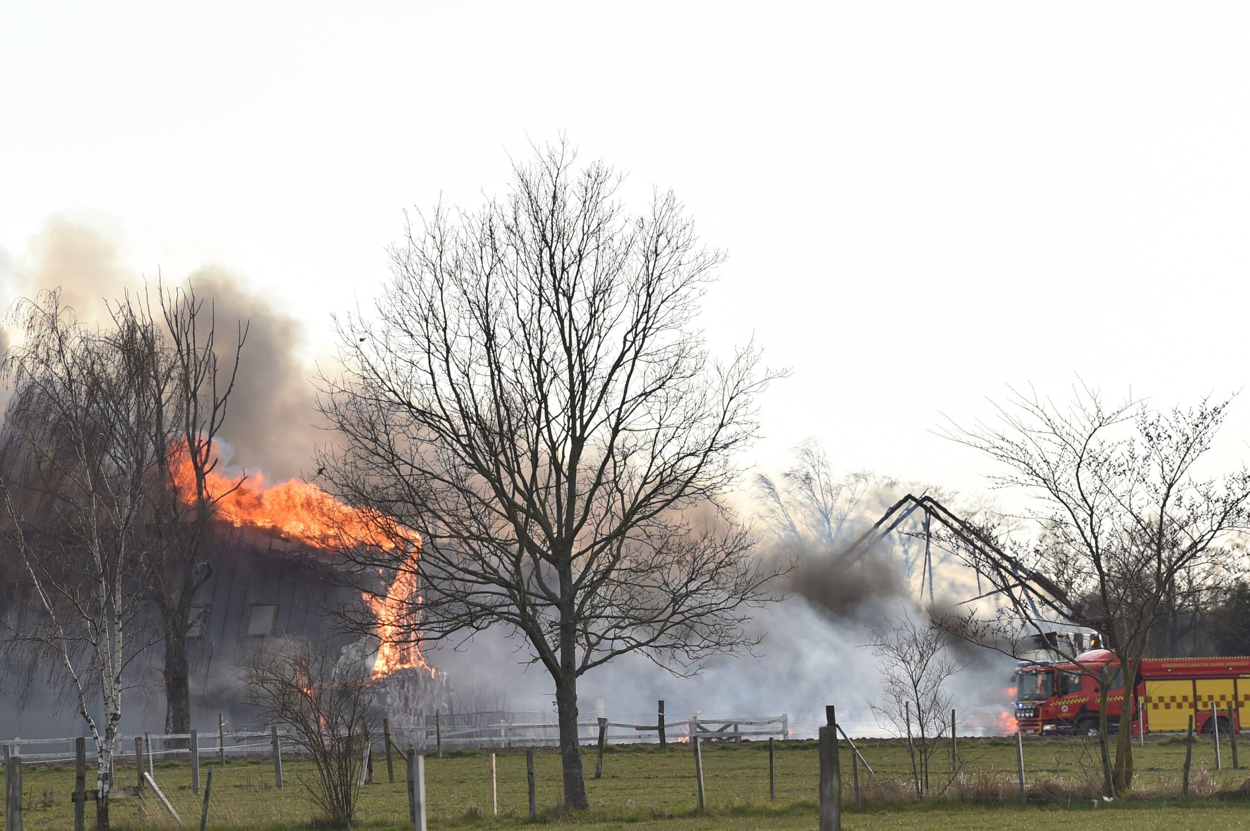 Branden i Hyllinge. Foto: Jan Emanuelsson